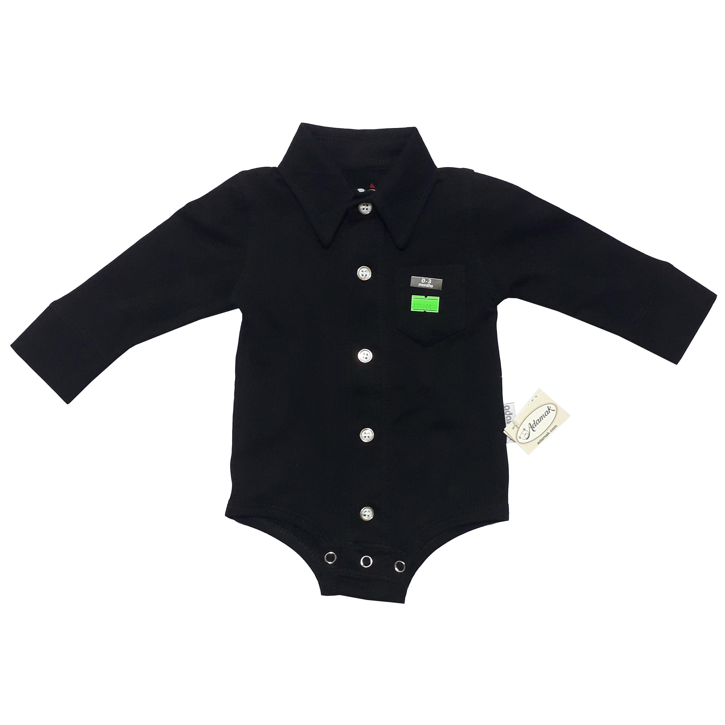 بادی آستین بلند نوزادی پسرانه آدمک مدل 5011