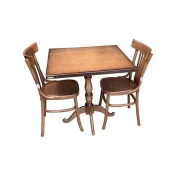 میز و صندلی ناهار خوری اسپرسان چوب کد Sm72
