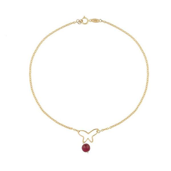 پابند طلا 18 عیار زنانه الن نار مدل eln526