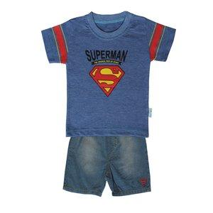 ست تیشرت و شلوارک پسرانه طرح سوپرمن کد ۸۹۴