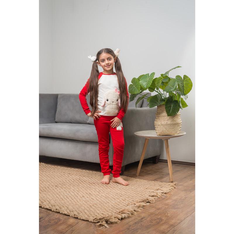 ست تی شرت و شلوار دخترانه مادر مدل TaminaRed-72