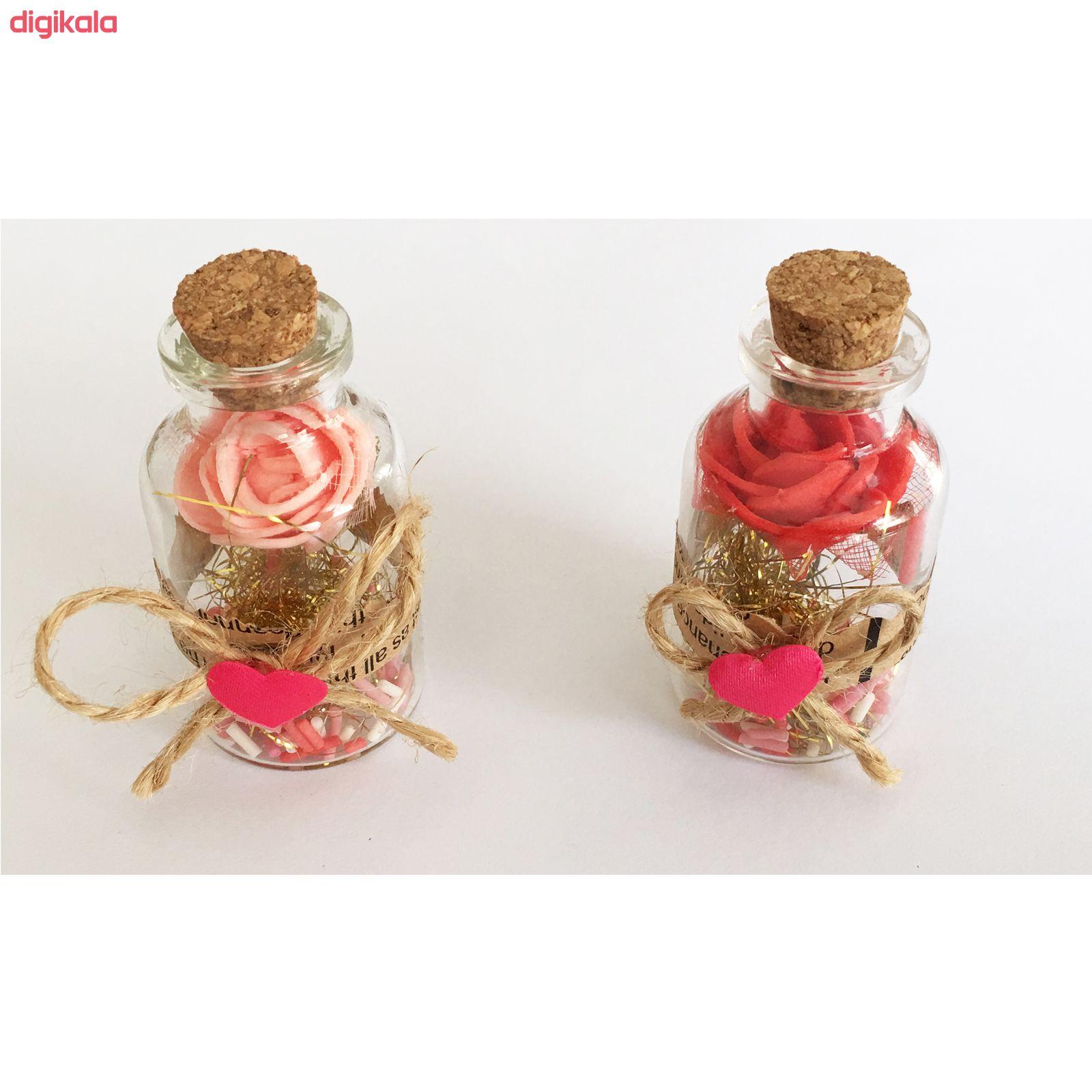 بطری دکوری طرح بطری عشق کد 01 مجموعه 3 عددی main 1 4
