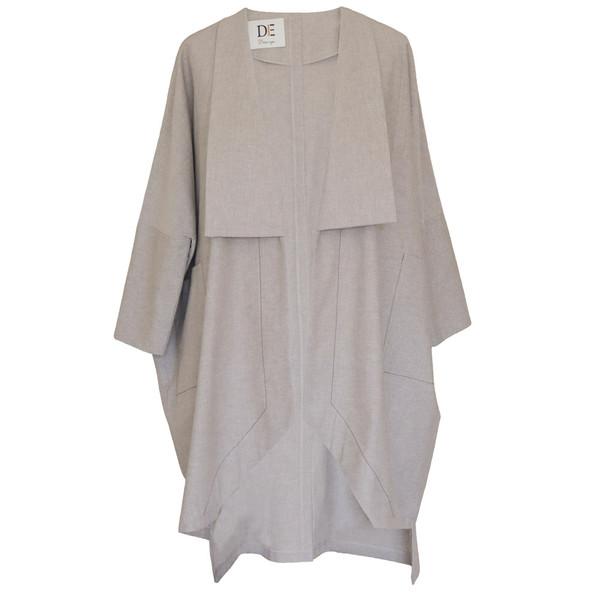 مانتو زنانه دِرِس ایگو کد 1100016 رنگ خاکستری