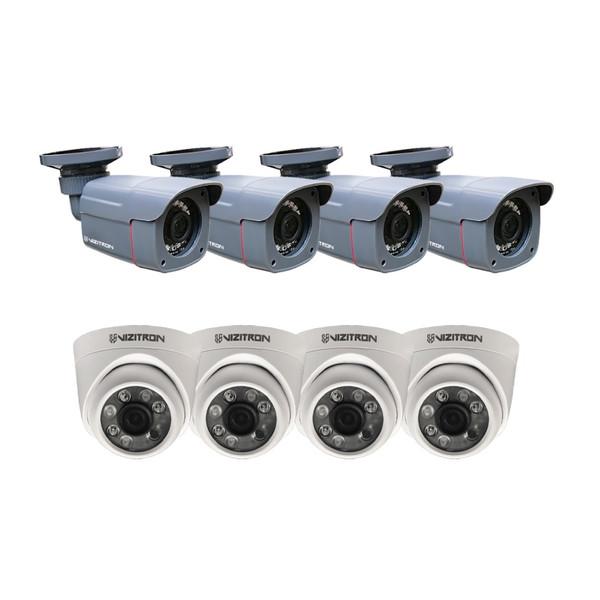 دوربین مداربسته آنالوگ ویزیترون مدل DK27_440ZF20_468XG20 مجموعه 8 عددی