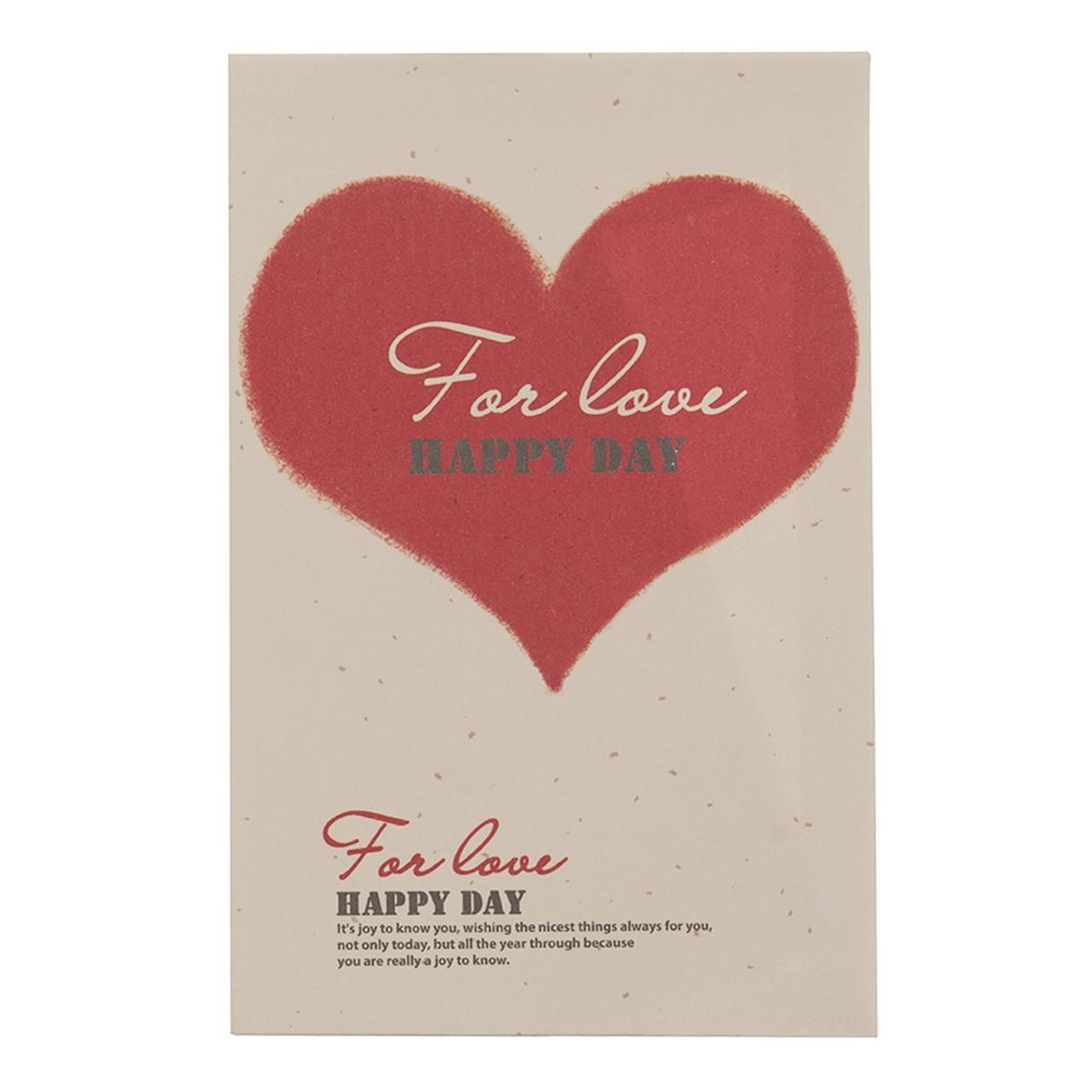 پاکت هدیه طرح قلبی کد M 455 بسته 6 عددی