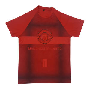 تیشرت ورزشی پسرانه طرح منچستر یونایتد کد 2019.20 رنگ قرمز