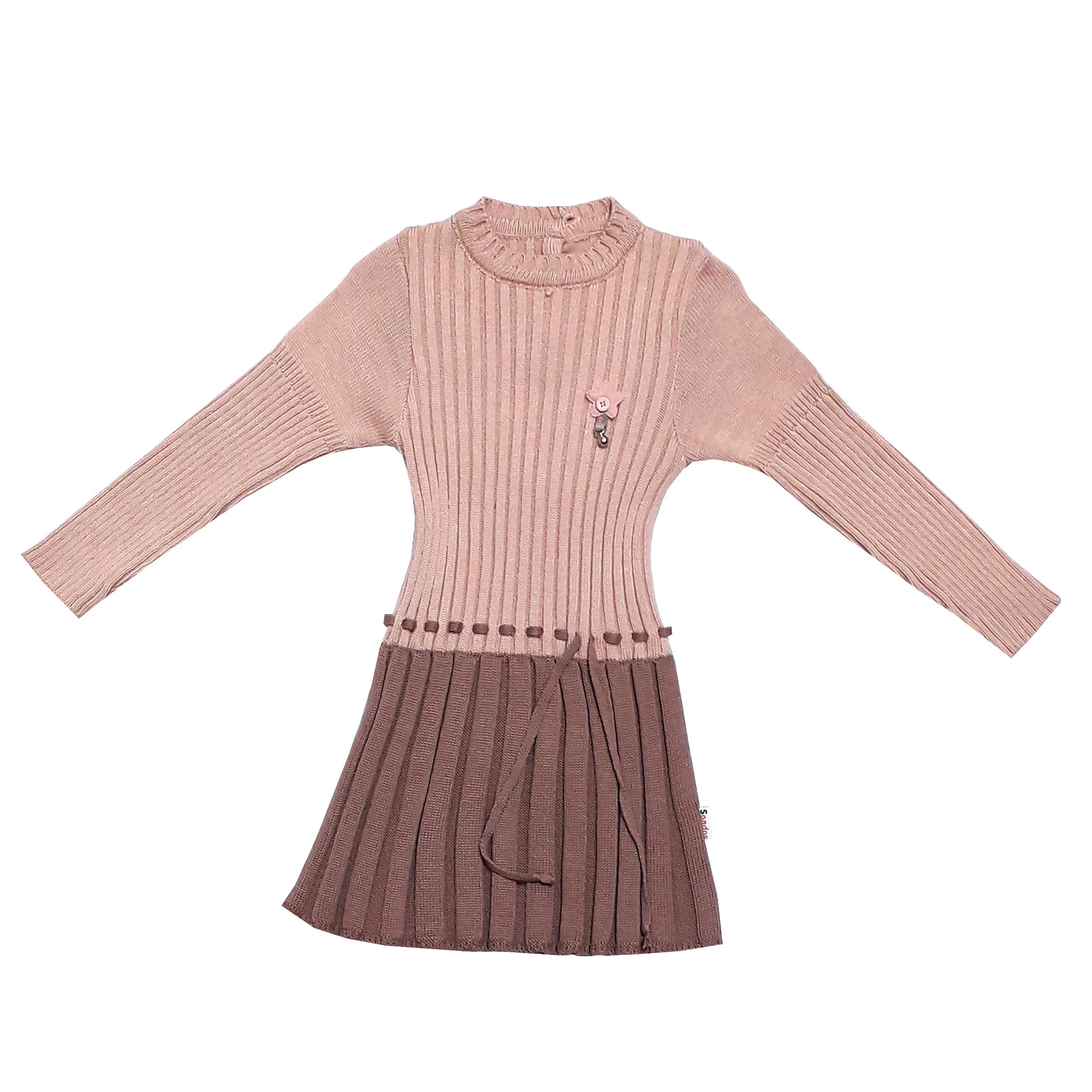 پیراهن بافت نوزادی دخترانه مدل 4023