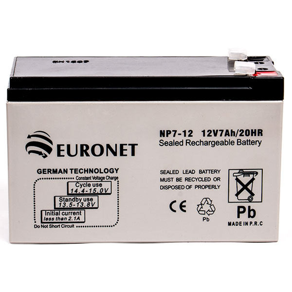 باتری یو پی اس 12 ولت 7 آمپر ساعت یورونت مدل Chesh12-7