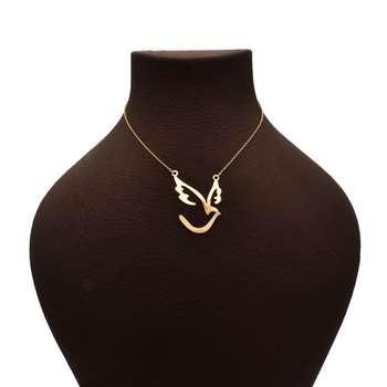گردنبند زنانه طرح پرنده کد A86