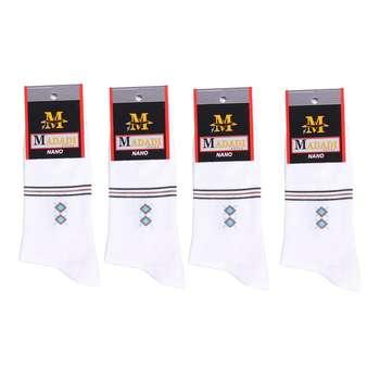 جوراب مردانه طرح لوزی کد S4 بسته 4 عددی