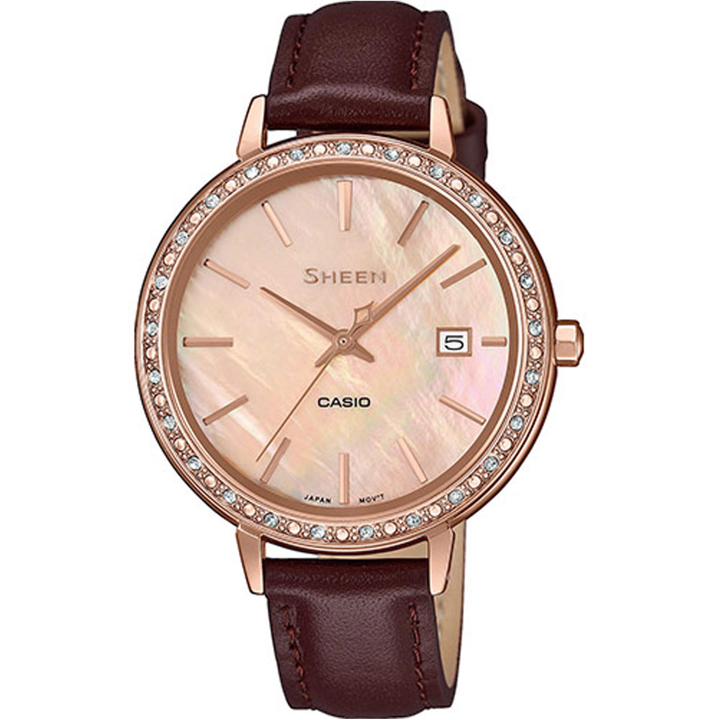ساعت مچی عقربه ای زنانه کاسیو مدل SHE-4052PGL-4AUDF              ارزان