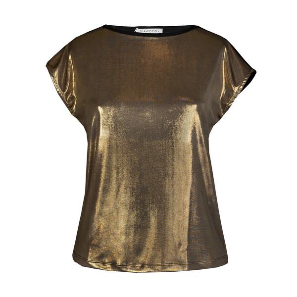 تی شرت زنانه سیاوود کد 7110413 رنگ طلایی