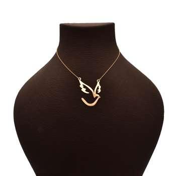 گردنبند زنانه طرح پرنده کد F142