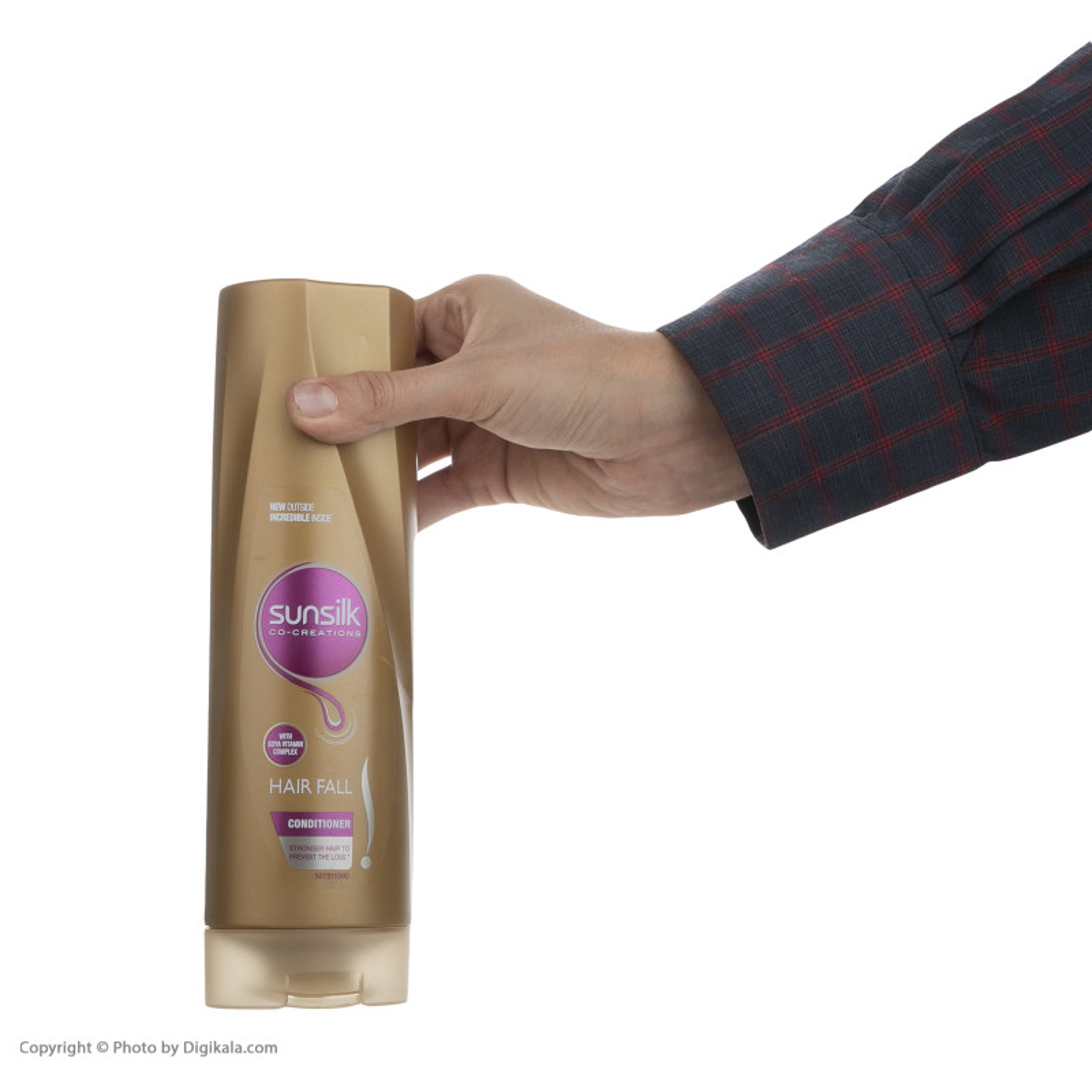 نرم کننده مو ضعیف و شکننده سان سیلک مدل Hair fall  حجم 350 میلی لیتر