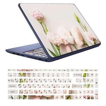 استیکر لپ تاپ کد D01 به همراه برچسب حروف فارسی کیبورد