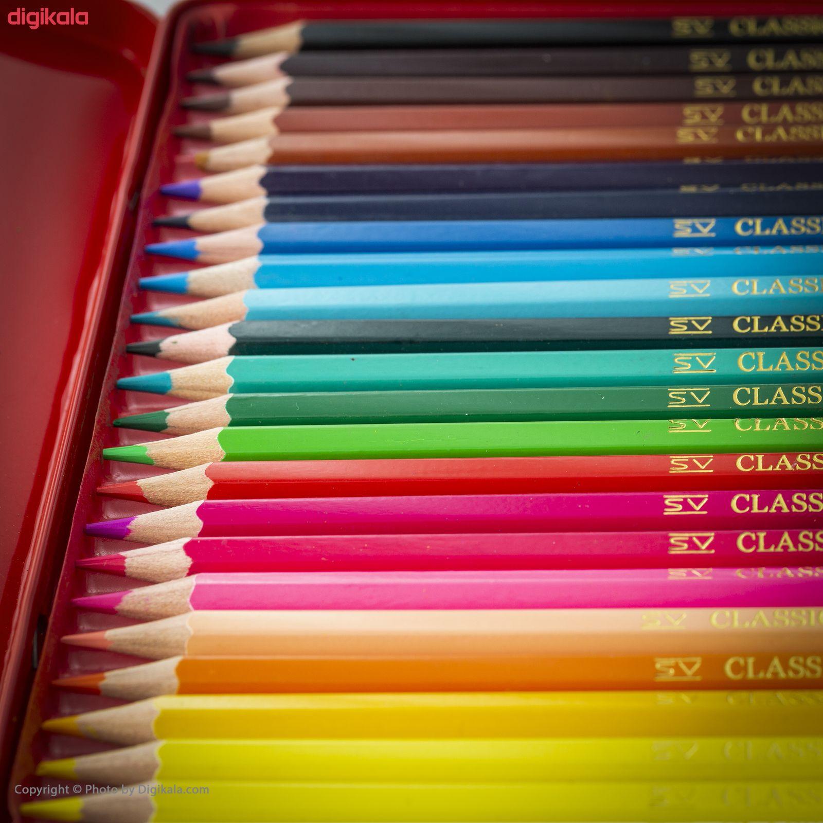 مداد رنگی 24 رنگ فابر-کاستل مدل Classic main 1 10