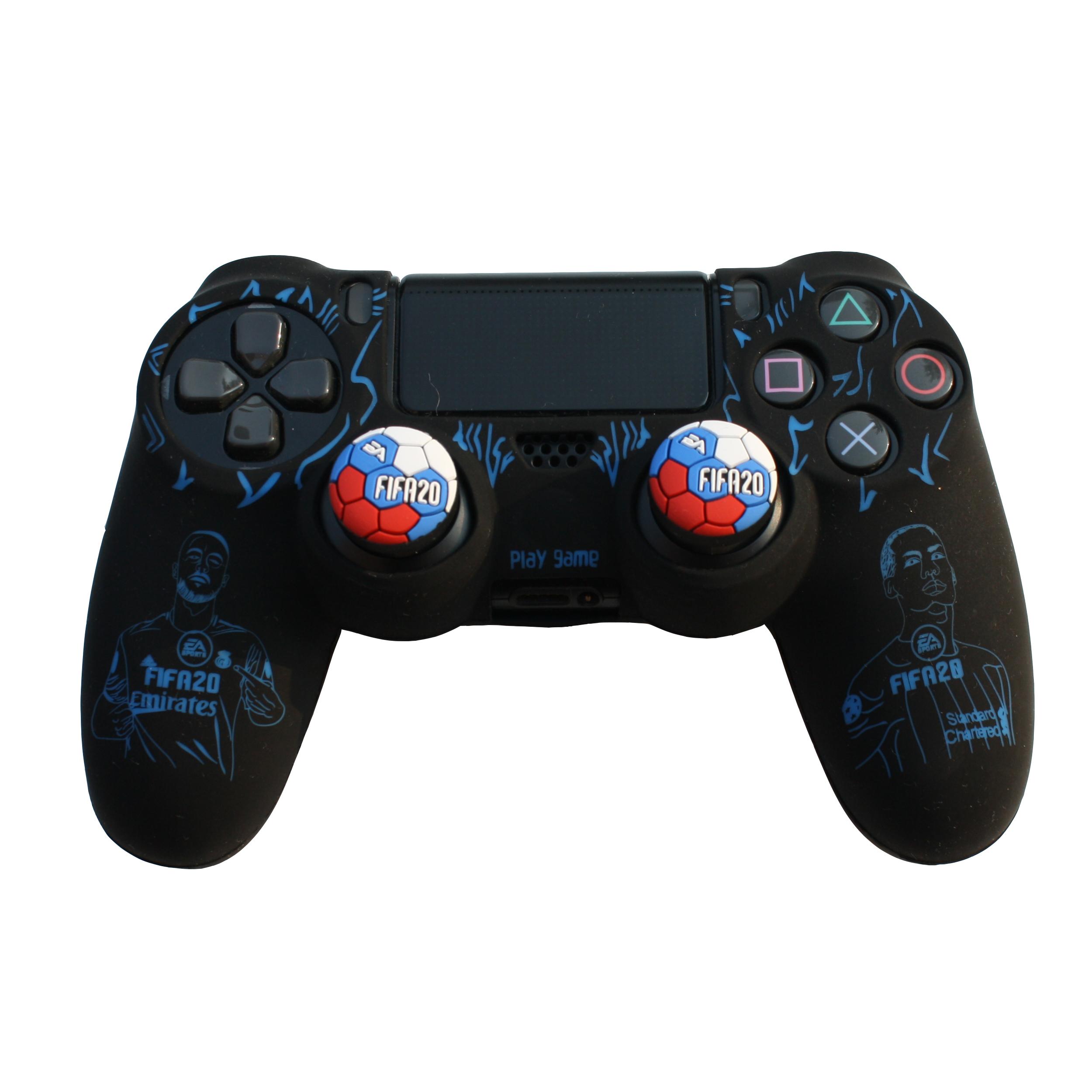خرید اینترنتی محافظ دسته بازی پلی استیشن 4 مدل fifa 2020 کد 001 به همراه دو عدد روکش آنالوگ اورجینال