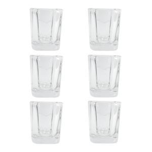 جاشمعی شیشه ای مدل کورال کد 237 بسته 6 عددی