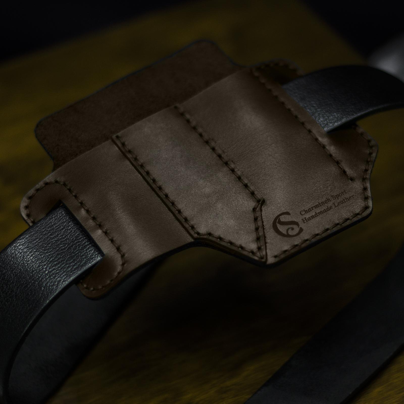 کیف کمری چاقو و چراغ قوه چرمینه اسپرت کد 79KN