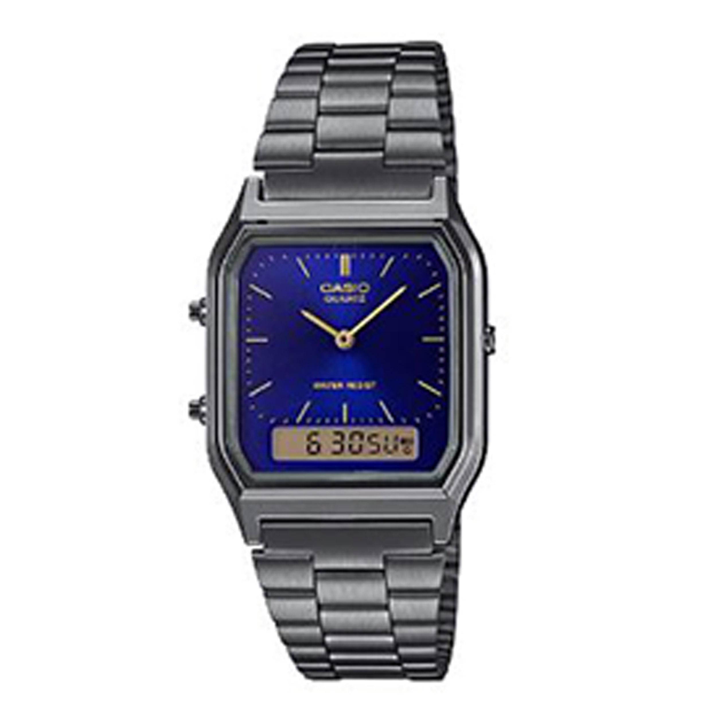خرید ساعت مچی عقربه ای کاسیو مدل AQ-230GG-2ADF