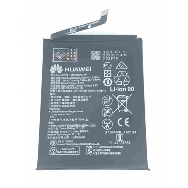 باتری موبایل مدل hb356687ecw ظرفیت 3340 میلی آمپر ساعت مناسب برای گوشی موبایل هوآوی mate 10 lite
