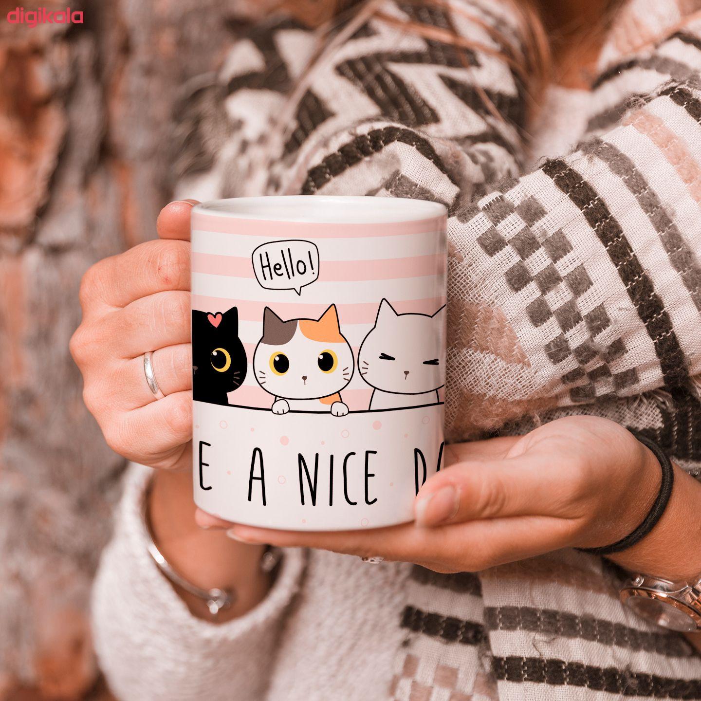 ماگ طرح گربه مدل have a nice day main 1 1