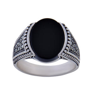 انگشتر نقره مردانه بازرگانی میلادی کد AM_098