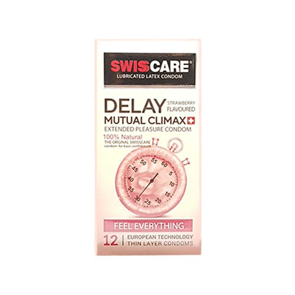 کاندوم سوئیس کر مدل DELAY MUTUAL CLIMAX بسته 12 عددی