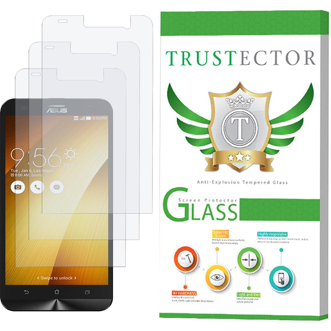 محافظ صفحه نمایش تراستکتور مدل GLS مناسب برای گوشی موبایل ایسوس Zenfone 2 Laser ZE550KL بسته 3 عددی