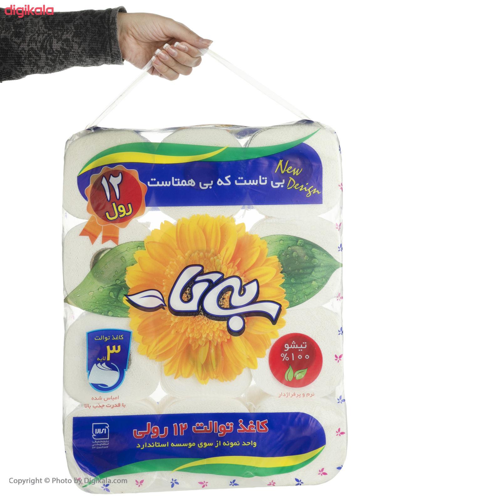 دستمال توالت بیتا مدل Flower بسته 12 عددی main 1 3