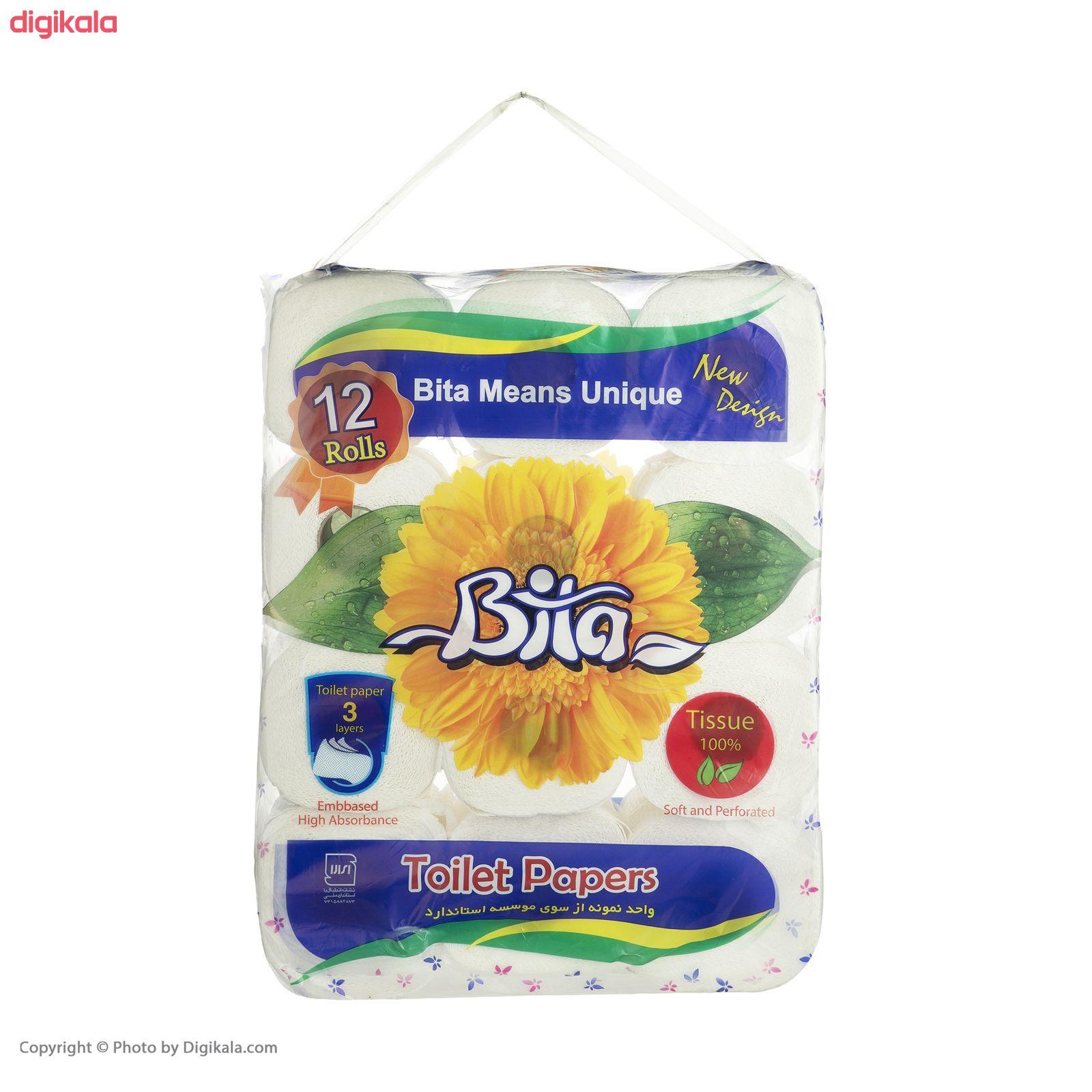 دستمال توالت بیتا مدل Flower بسته 12 عددی main 1 1