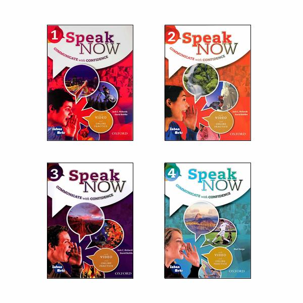 خرید                      کتاب speak now اثر Jack C. Richards and David Bohlke انتشارات زبان مهر 4 جلدی