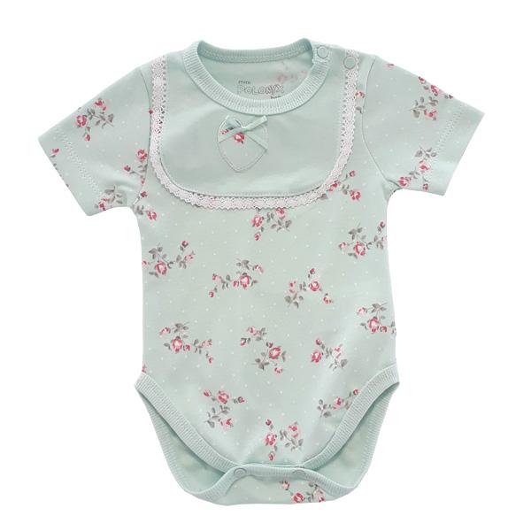 بادی آستین کوتاه نوزادی دخترانه پولونیکس کد 02-11812