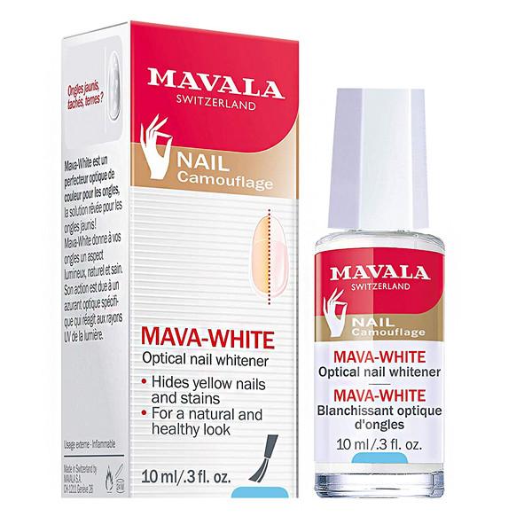 لاک روشن کننده رنگ ناخن ماوالا مدل MAVAWHITE حجم 10 میلی لیتر