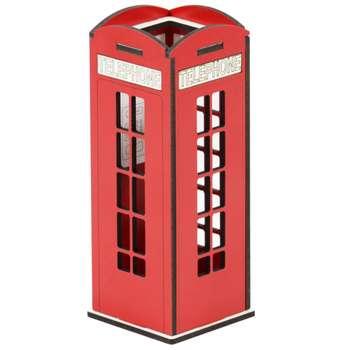 جامدادی رومیزی مدل باجه تلفن کلاسیک