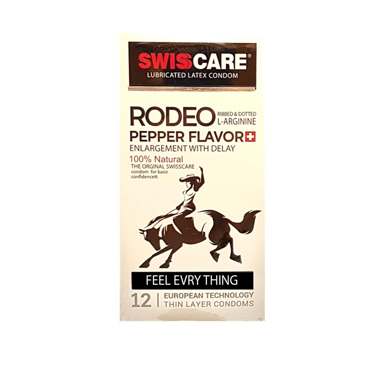 کاندوم سوئیس کر مدل REDO PEPPER FLOVER بسته 12 عددی