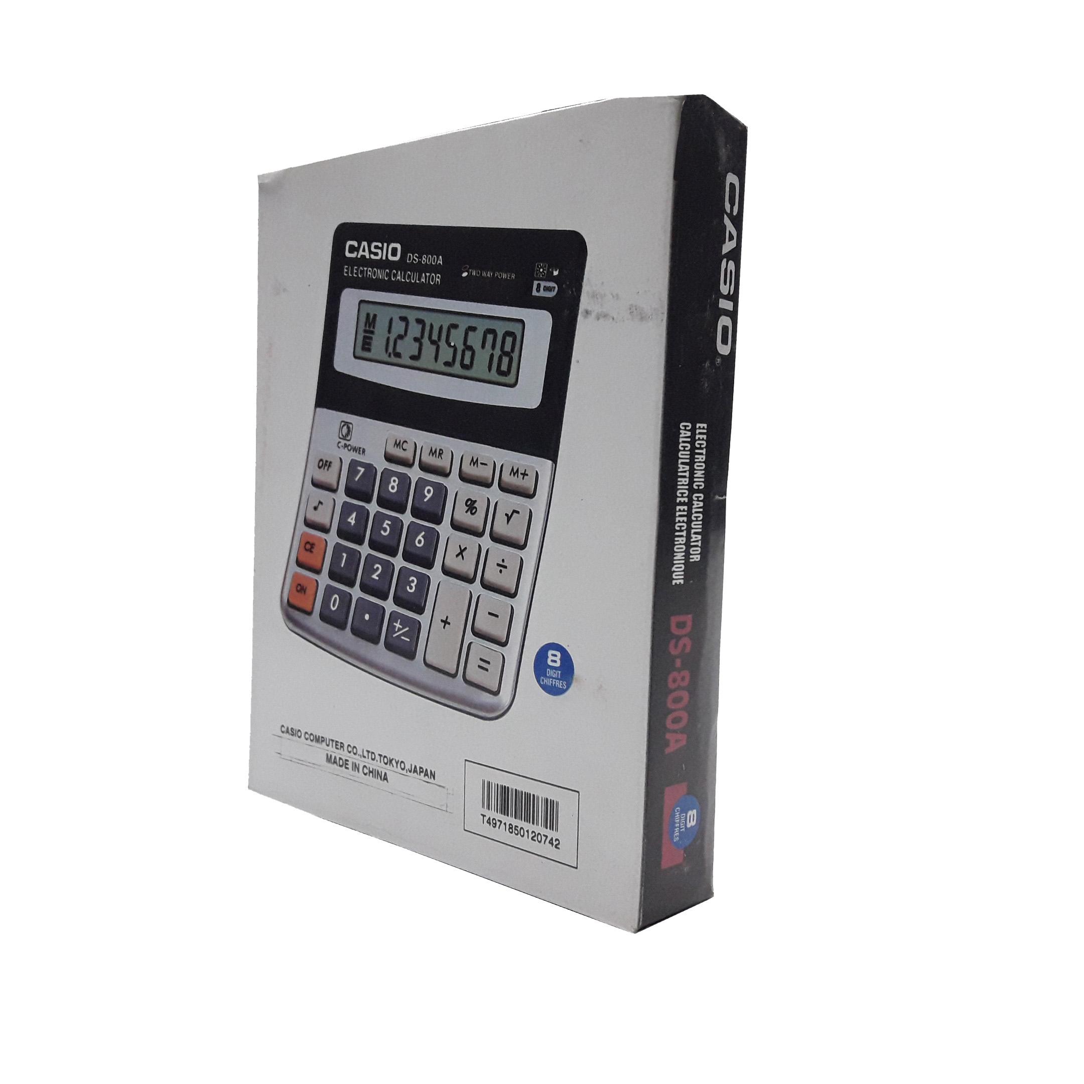 قیمت                      ماشین حساب کاسیو مدل DS-800A