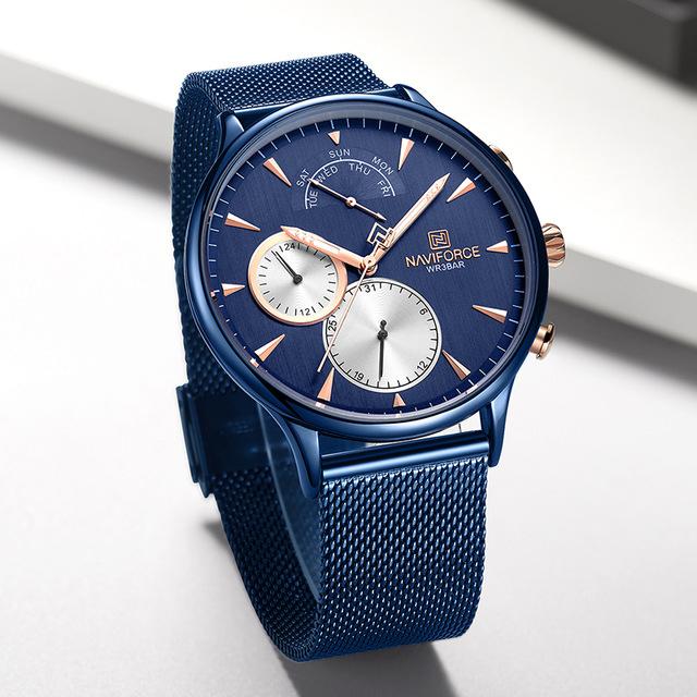 خرید                                     ساعت مچی عقربه ای مردانه نیوی فورس مدل NF3010 BE