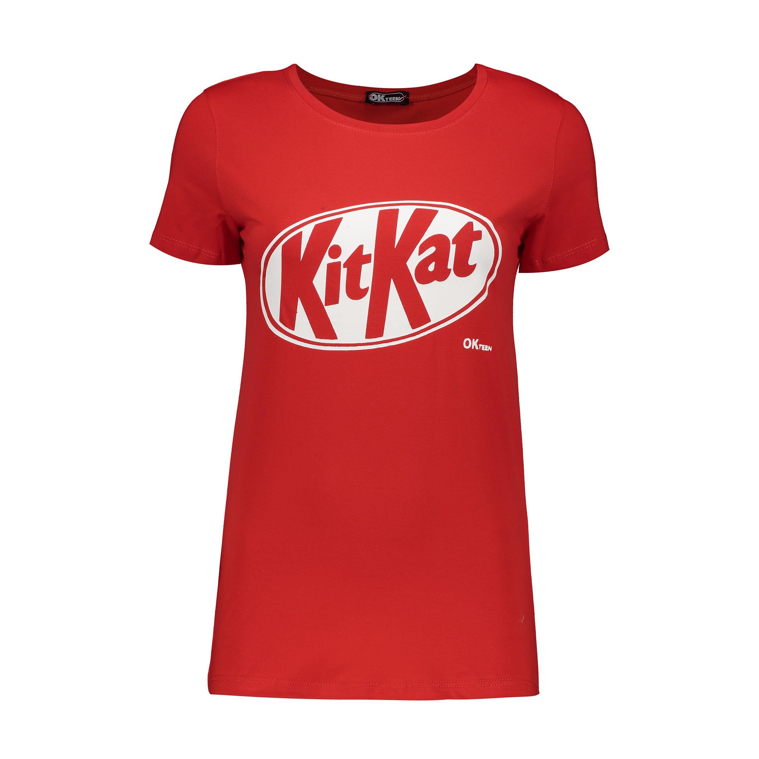 تصویر تیشرت زنانه اکتین طرح KitKat