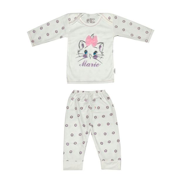 ست تی شرت و شلوار نوزادی کد p111
