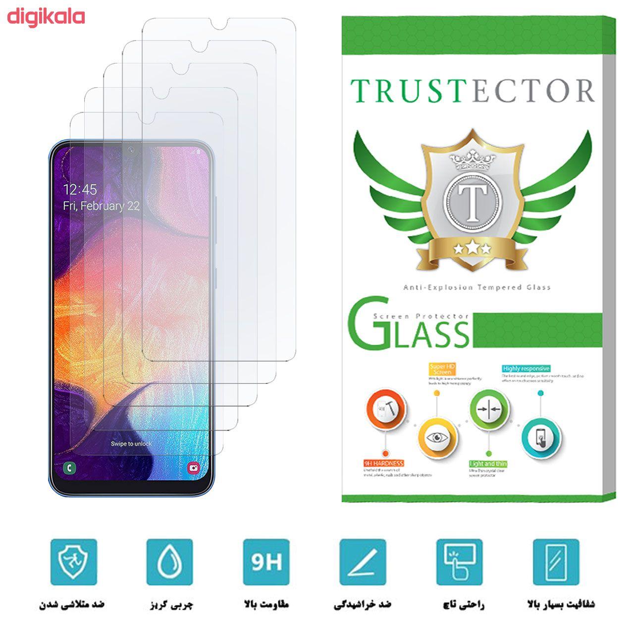 محافظ صفحه نمایش تراستکتور مدل GLS مناسب برای گوشی موبایل سامسونگ Galaxy A50 بسته 5 عددی main 1 9
