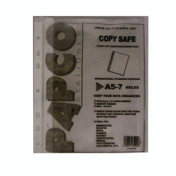 کاور کاغذ A5 پاپکو کد A5-7 بسته 100عددی