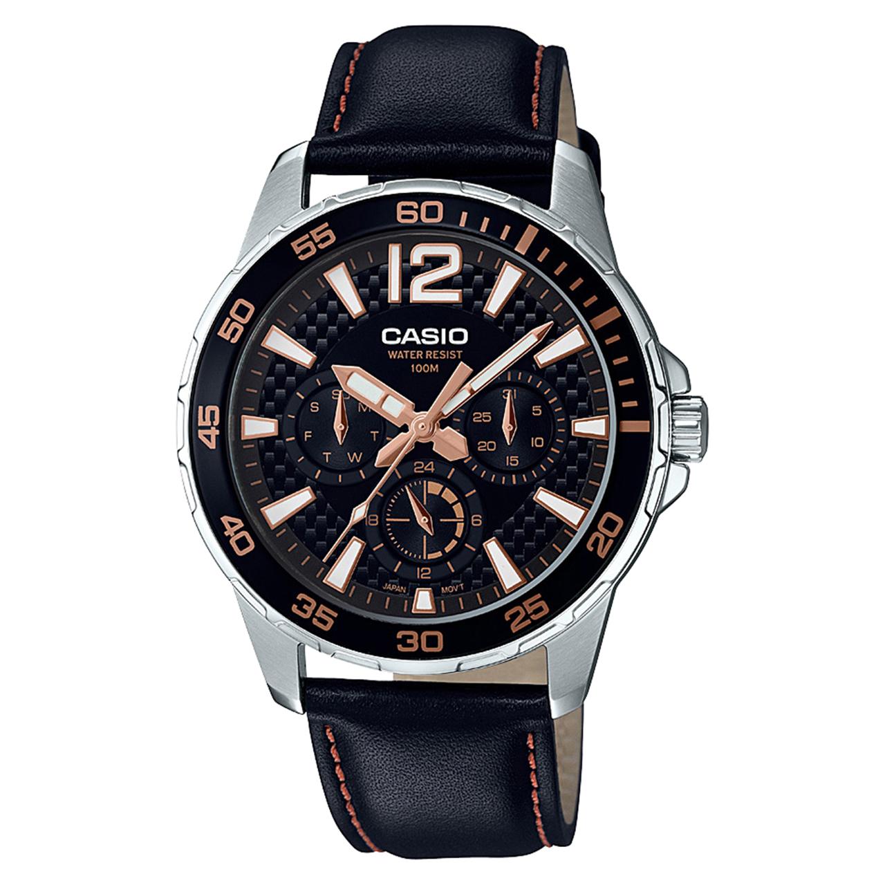 ساعت مچی عقربه ای مردانه کاسیو مدل MTD-330L-1A3VDF              خرید (⭐️⭐️⭐️)