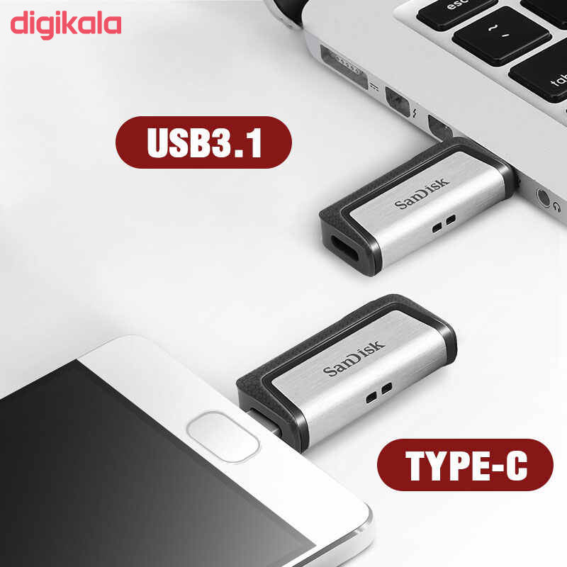 فلش مموری سن دیسک مدل Ultra Dual Drive USB Type-C  ظرفیت 64 گیگابایت main 1 11