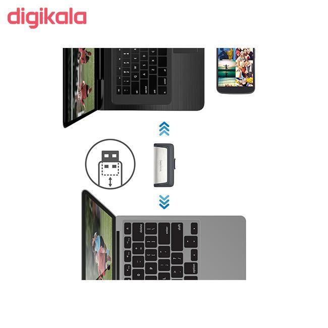 فلش مموری سن دیسک مدل Ultra Dual Drive USB Type-C  ظرفیت 64 گیگابایت main 1 13