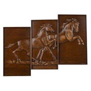 تابلو منبت کاری مدل اسب مجموعه 3 عددی