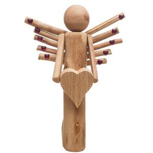 مجسمه چوبی مدل فرشته کد m 465