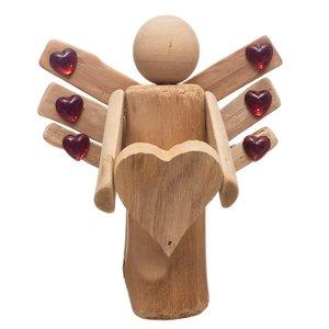 مجسمه چوبی مدل فرشته کد m 464
