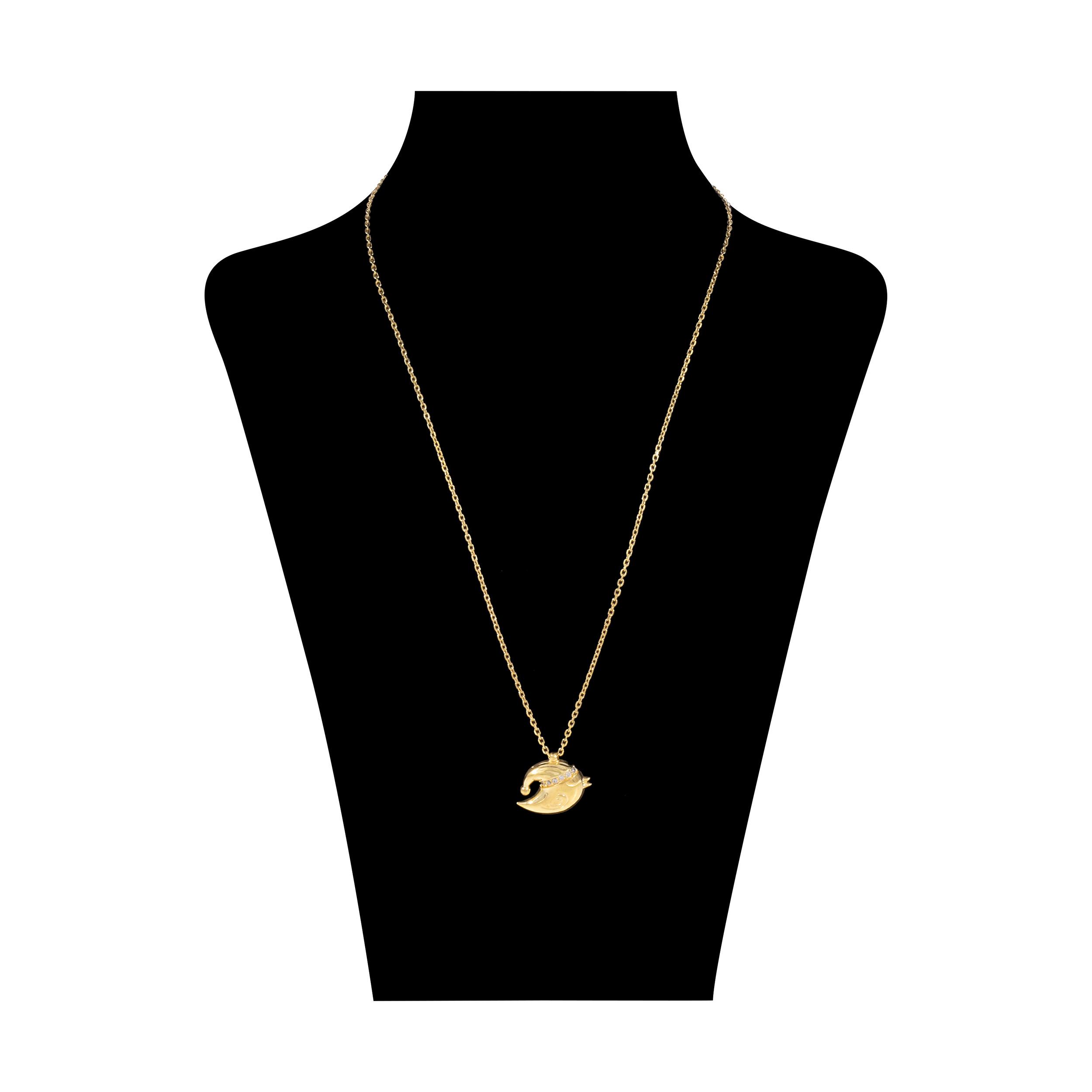 گردنبند نقره زنانه طرح انگری بردز کد M014