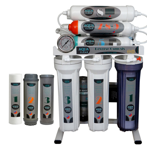دستگاه تصفیه کننده آب آکوآکلیر مدل NEWDESIGN 2020 - AFQ9 به همراه فیلتر مجموعه 3 عددی